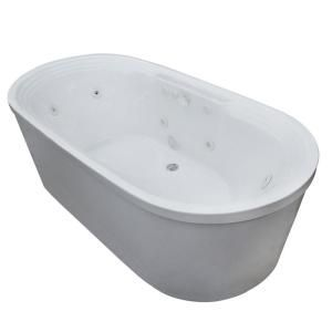 Universal Tubs Pearl 5.6 Ft. Center Drain Whirlpool Bath Tub In White  HD3467RW At The Home Depot   Mobile #WhirlpoolBathtubs | Whirlpool Bathtubs  ...