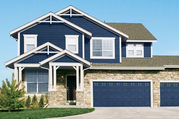 Lp Smartside Over Vinyl Siding Or Wood Siding Insulators Home Exterior Blue Siding House Exterior Brick Siding