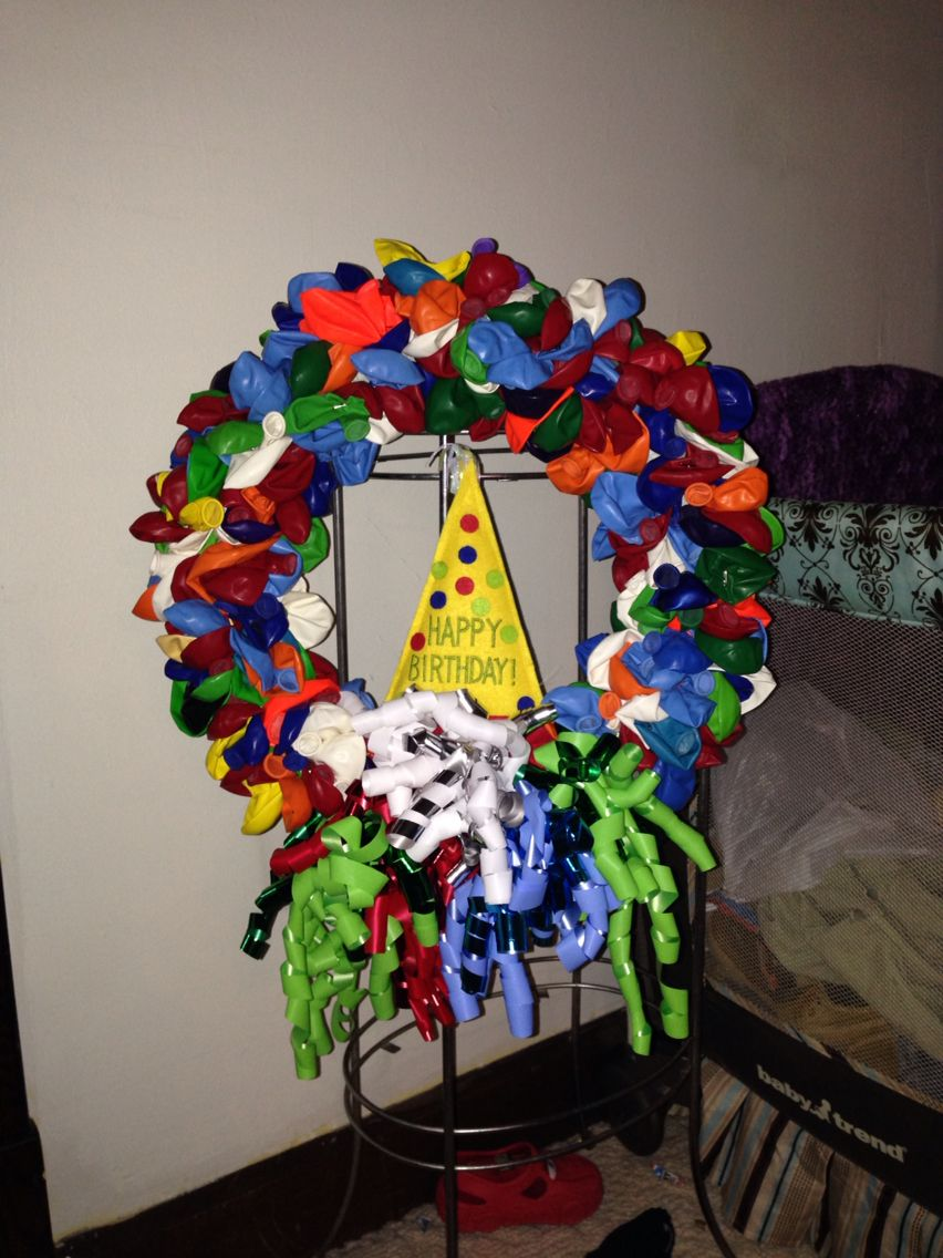Birthday wreath I made for my brother! Turned out awesome!