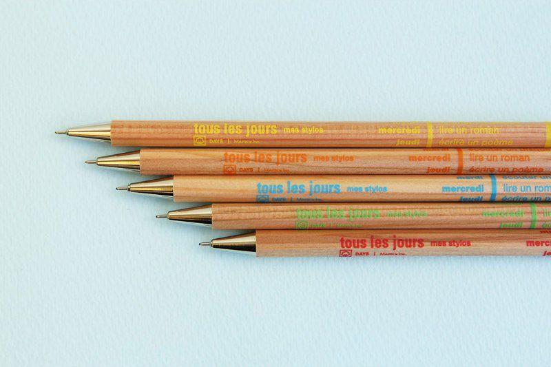 Tous Les Jours Wood Pen
