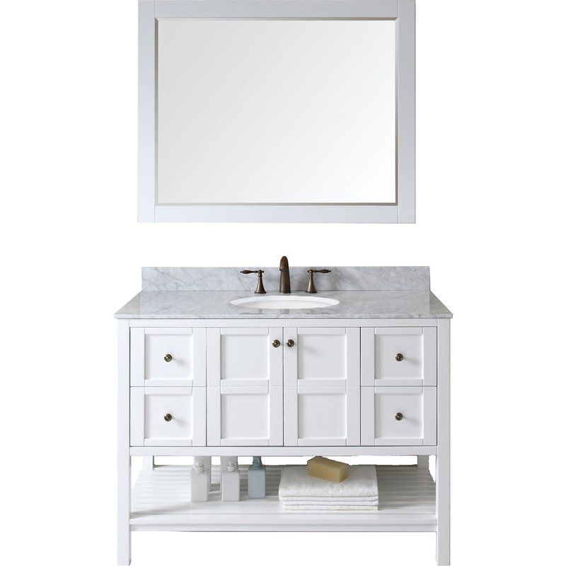 Bob 48 Single Bathroom Vanity Set Single Bathroom Vanity