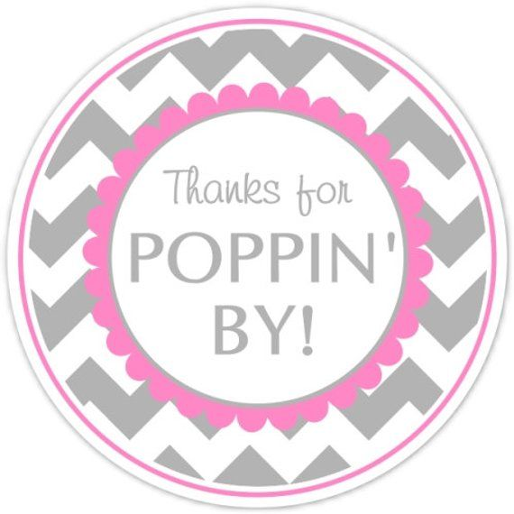 photograph about Thanks for Popping by Free Printable referred to as 36 Youngster Shower Stickers, Owing for Poppin As a result of Labels