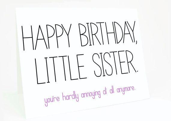 Funny Birthday Card Birthday Card for Sister Sister Birthday – Funny Sister Birthday Cards