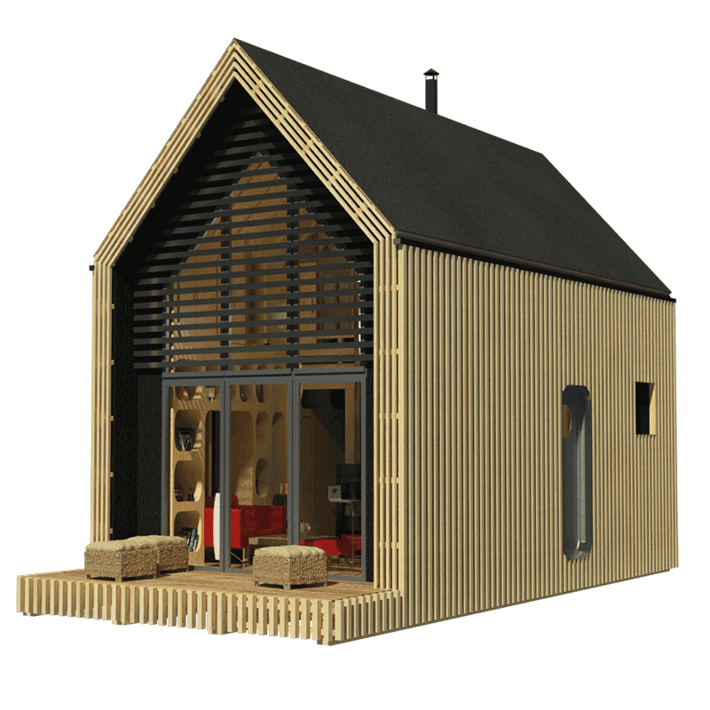 Free tiny house plans with material list for Free small cabin plans with material list