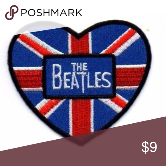 The Beatles Heads in Bands iron-on patch