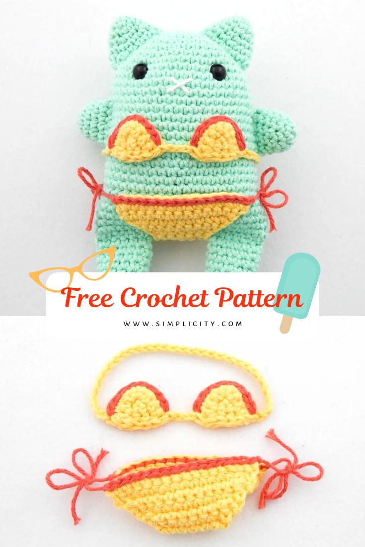 Cat Days Of Summer Free Amigurumi Pattern Crochet Toy In 2020 Diy Crochet And Knitting Crochet Patterns Crochet Patterns Amigurumi