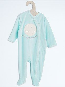 5543e525bef28 Fille 0-36 mois Pyjama velours broderie animal - Kiabi
