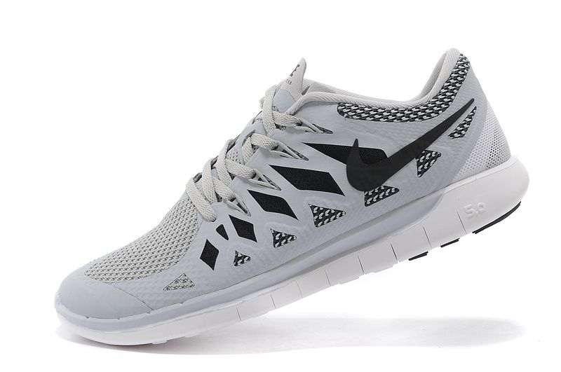 finest selection d2f9f 6d7fa Nike Free 5.0+ 2014 Mens Wolf Grey Carbon Black 644428 005