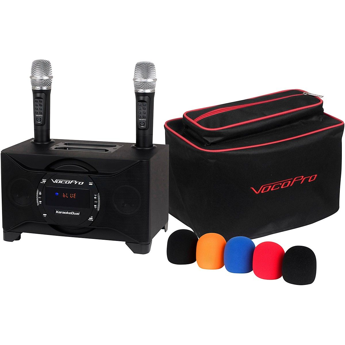 VocoPro KaraokeDual-Plus Karaoke System with Wireless Microphones and Bluetooth