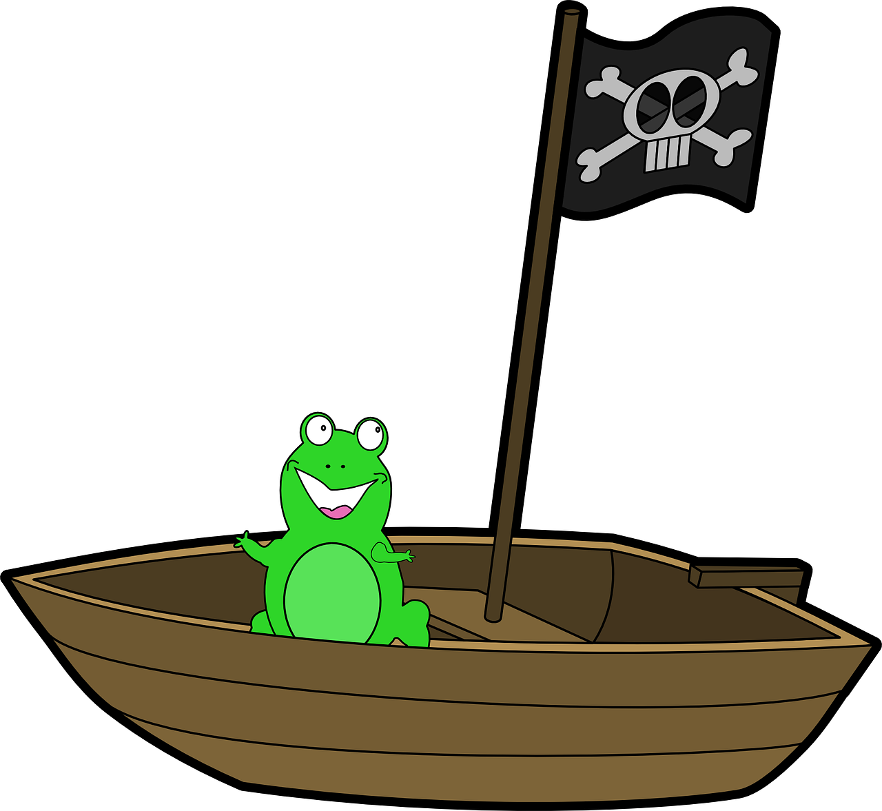boat boat frog smiling green pirate flag boat boat frog rh pinterest com Pirate Sword Clip Art Pirate Hat Clip Art