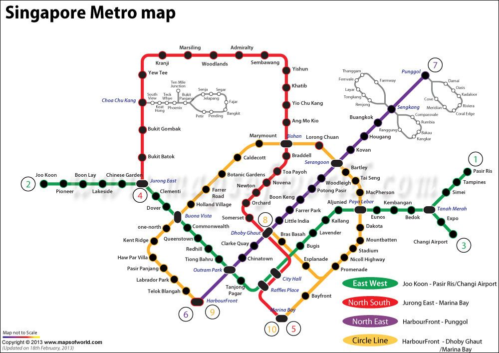 Toronto Subway Map Print.Map Showing The Metro Route Of Singapore In Asia Places To Visit