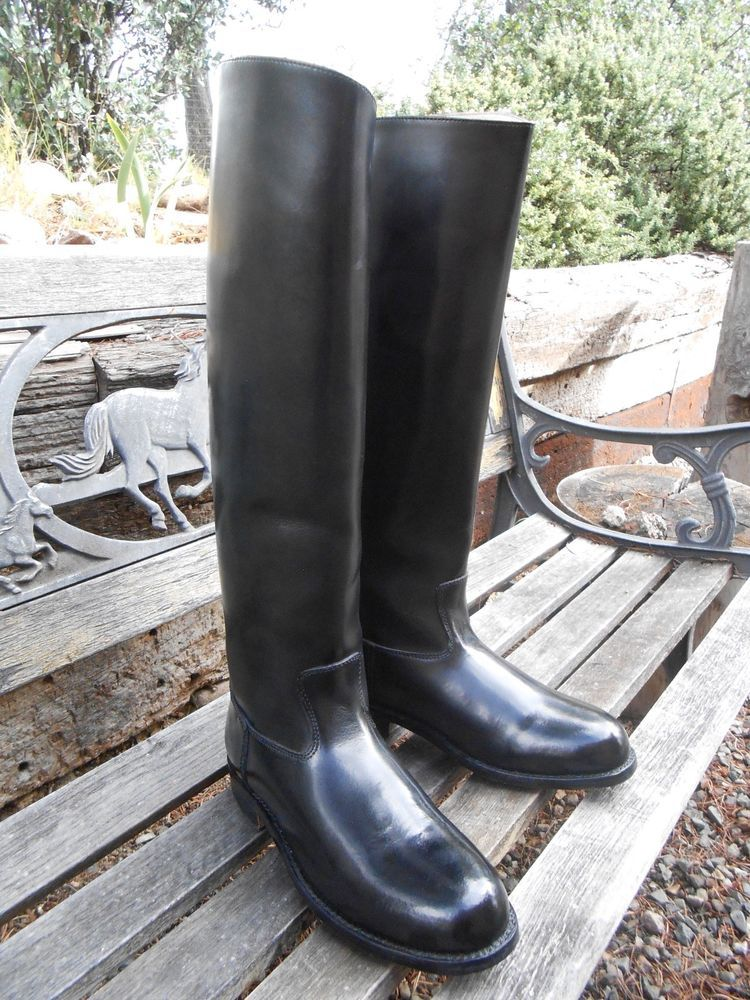 Men S Tall Leather Equestrian Riding Boots Us Size 11 11 5 Bottes Cavalieres Bottes Botte Hautes