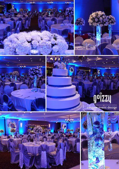 Winter Wonderland Dream New Year S Eve Wedding Blue Wedding