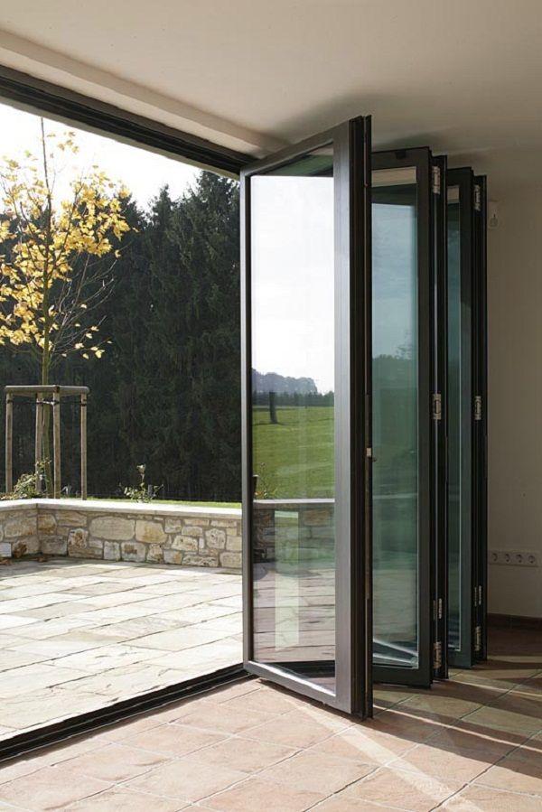 Bi Fold Doors Opening Inwards Door Designs Plans Terrace Design Bifold Doors Backyard Spaces