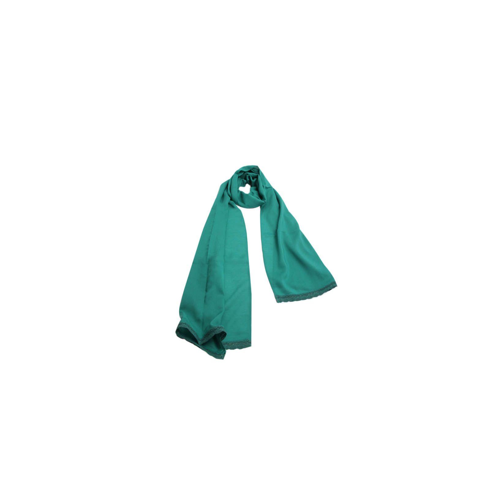 Echarpe Verde com Renda #echarpes #lenços #lenço #scarf #scarfs