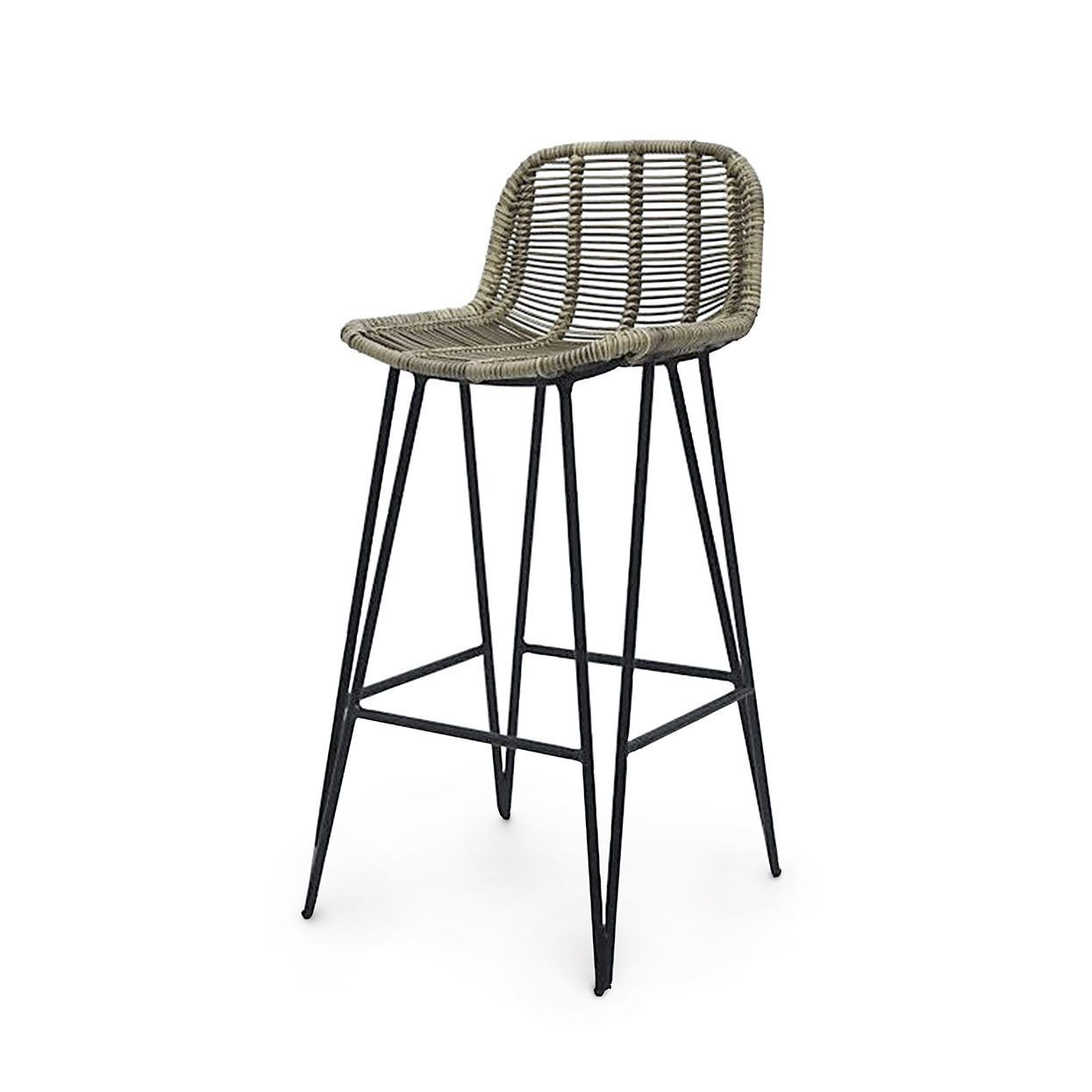Hermosa Outdoor 30 Barstool Grey In 2021 Luxe Furniture Bar Stools Black Bar Stools