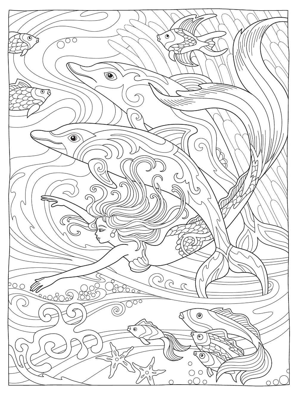Amazon Com Creative Haven Magnificent Mermaids Coloring Book Creative Haven Coloring Books 0800 Mermaid Coloring Book Mermaid Coloring Pages Coloring Pages [ 1327 x 1000 Pixel ]