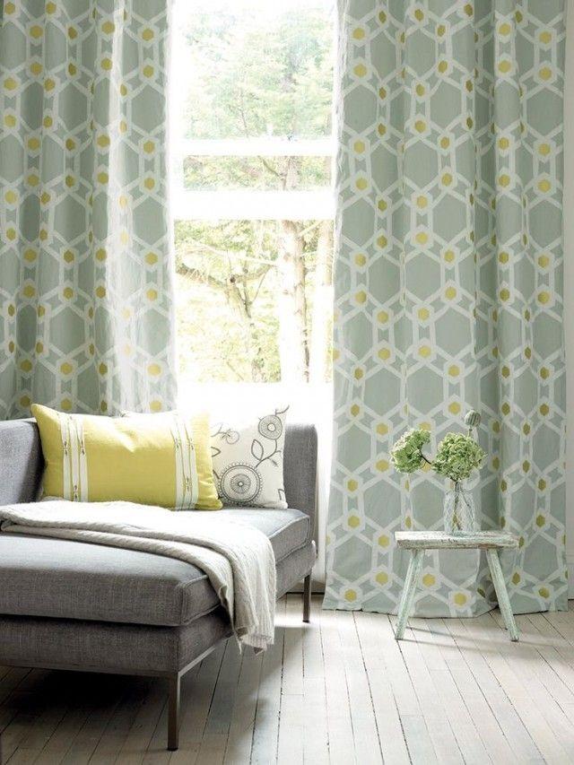 des rideaux et des motifs pinterest deco rideau motif g om trique et contemporain. Black Bedroom Furniture Sets. Home Design Ideas
