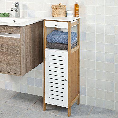 SoBuy® Badkommode, Badschrank, Kommode mit Schubkasten und Tür - kommode für badezimmer