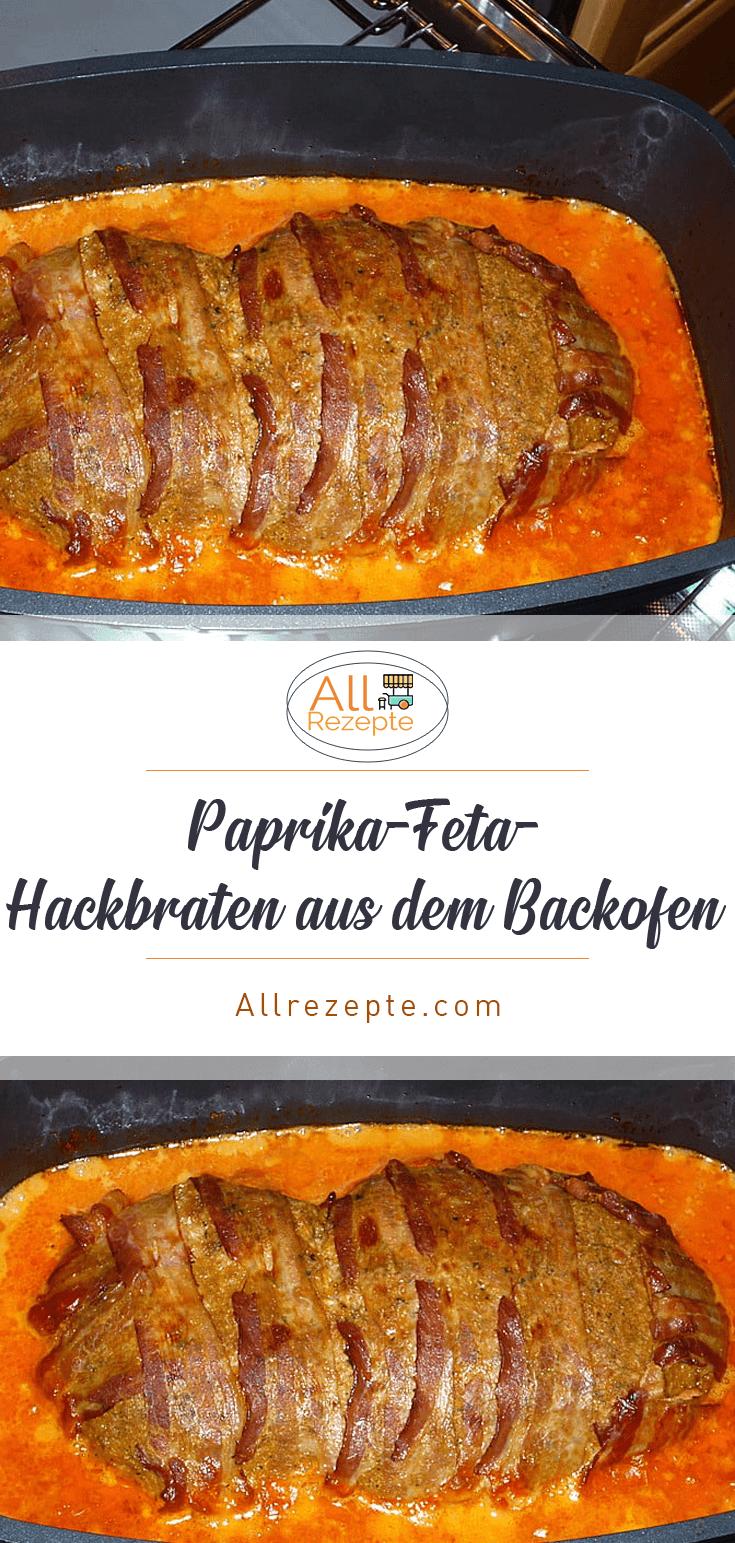 Paprika-Feta-Hackbraten aus dem Backofen – All Rezepte - Carroll&Rindfleischrezept