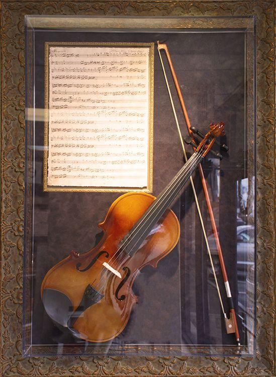 Custom Framed Violin With Sheet Music Frame Unique Framing
