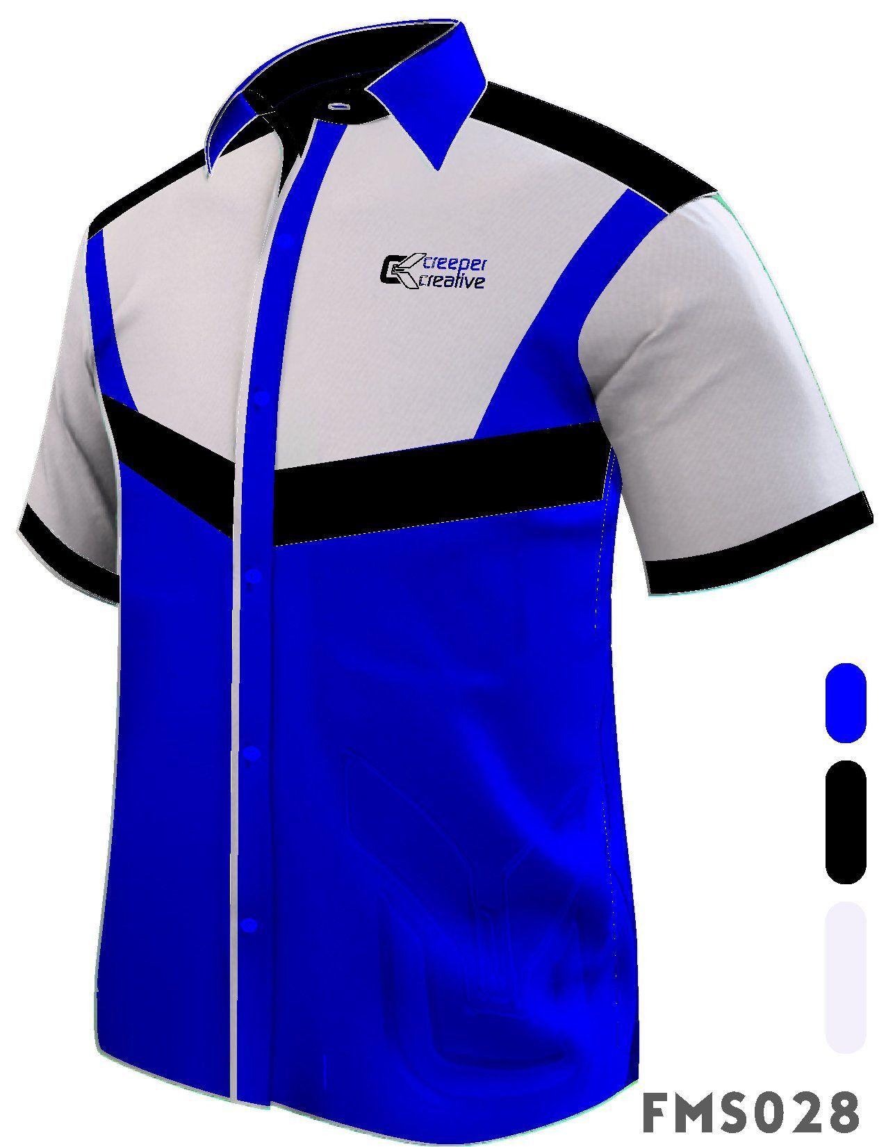 Fms028 F1 Shirts Male Shirts Short Sleeve Corporate Shirts