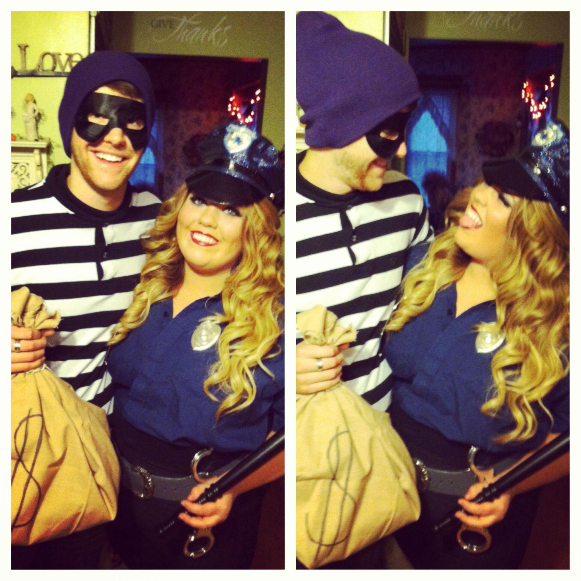 Beautifuly Cop Jailbird Couple Fancy Dress Forever