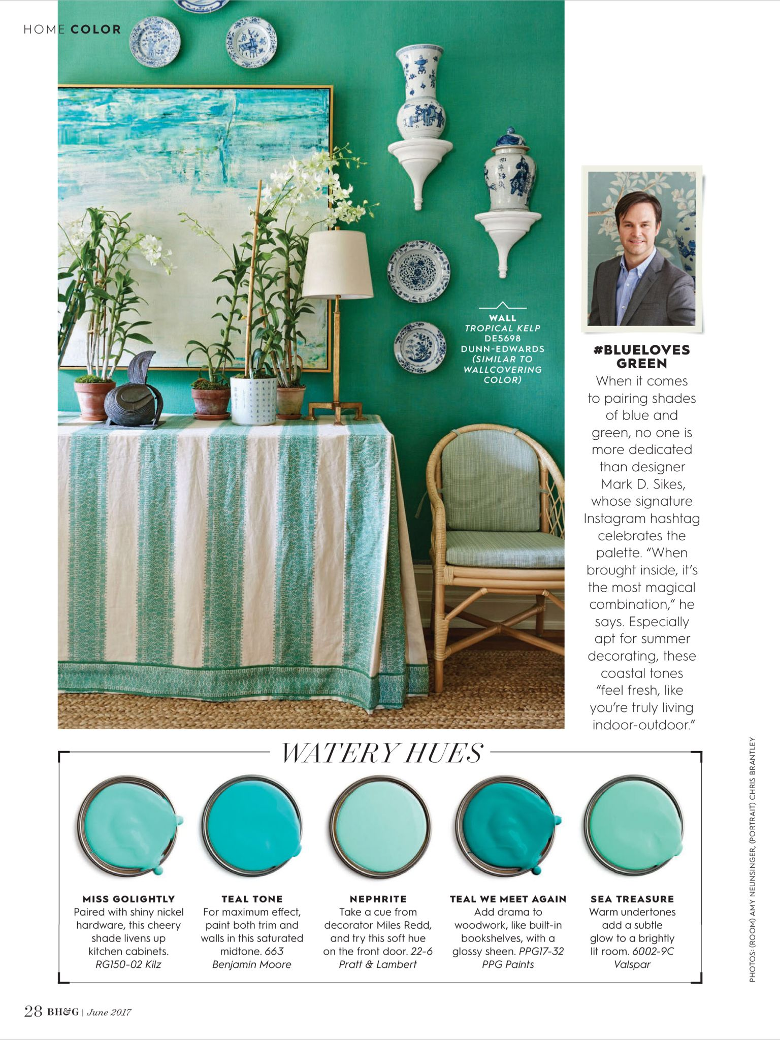 color sea shades from better homes and gardens june 2017 read it rh pinterest com