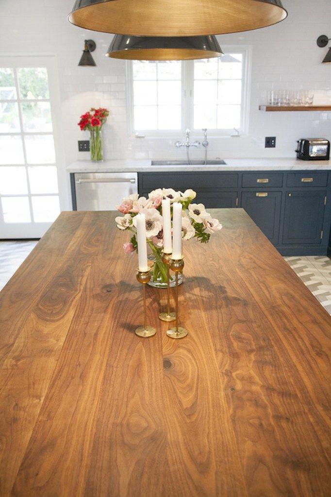 Navy, White and Brass Kitchen | Kitchen improvements ...