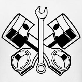 wrench and pistons | Sharpie art, Piston tattoo, Engine tattoo