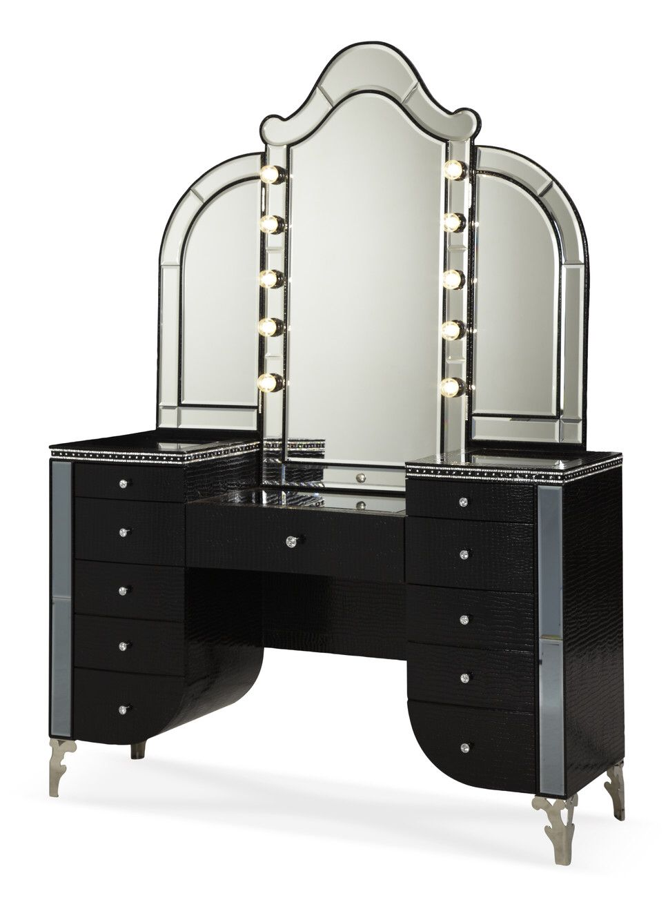 99 Black Vanity Desk With Mirror Furniture For Home Office
