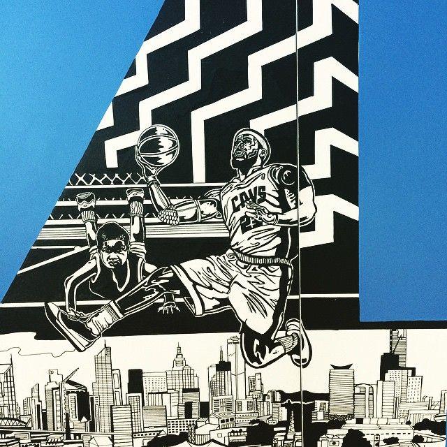 Another detail of something much larger #posca @posca_aus #illustration #drawing #art #nba #lebron @kingjames #basketball #cavs #melbourne