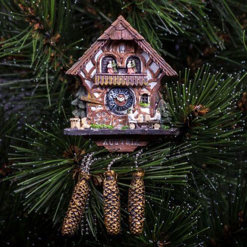 Resin-Fridge-Magnet-from-Austria-Cuckoo-clock-Kuckucksuhr-Timber-Framing-Hou
