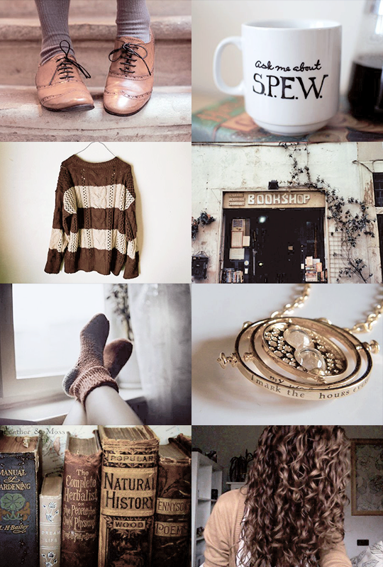 This is either an aesthetic for Hermione or me...who knows?