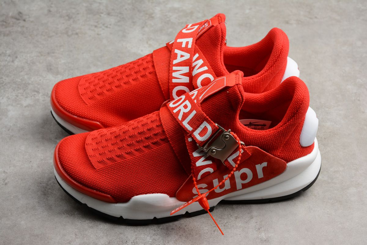 info for 44eb3 2561c New Nike Sock Dart x Supreme White Red Men's and Women's ...