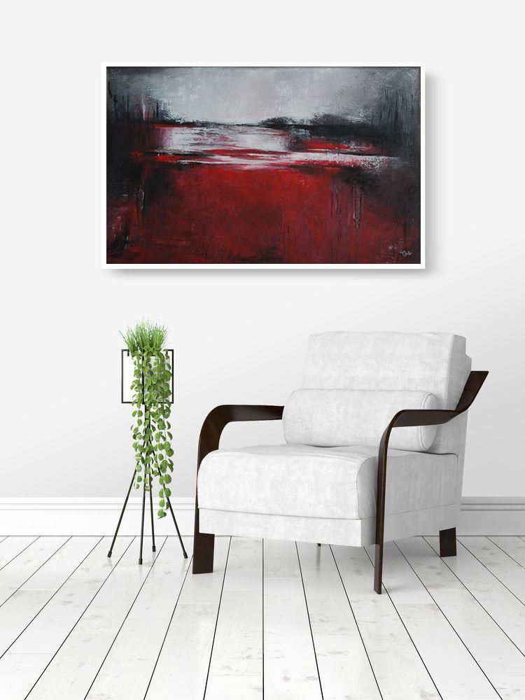 Abstract art #8 | Seidenglänzend, Keilrahmen und Status