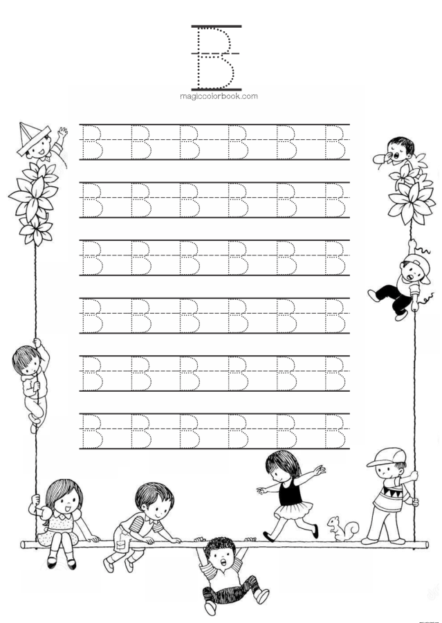 Alphabet B Dots Worksheet Coloring Pages Online Free Kids Dot Worksheets Coloring Pages Alphabet Coloring Pages