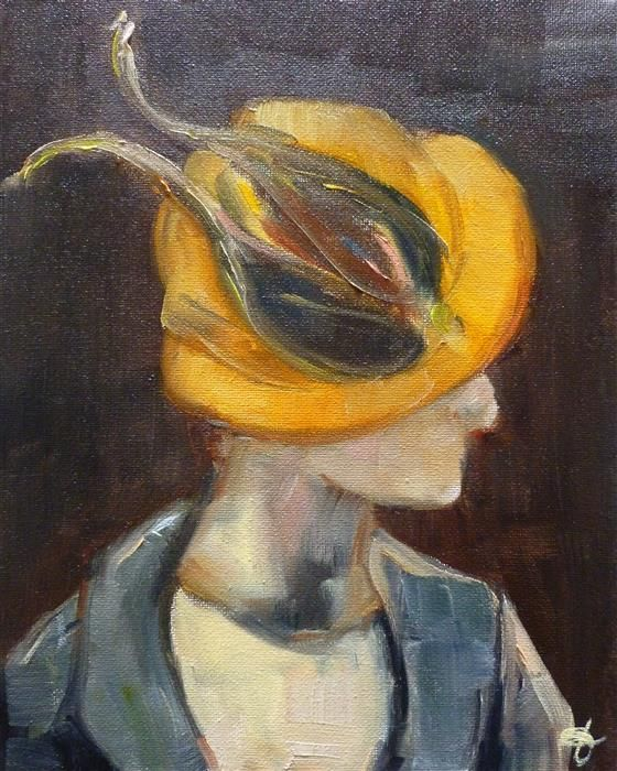 Love this oil painting from Ugallery. Dancing Yellow Bird by Jenny Hambleton.