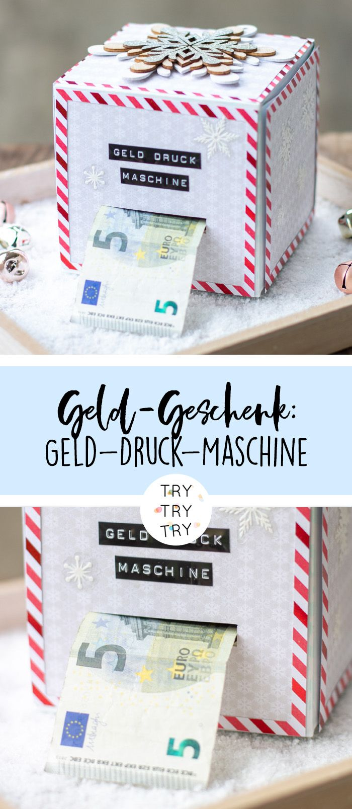 diy geld druck maschine geld geschenk f r weihnachten. Black Bedroom Furniture Sets. Home Design Ideas
