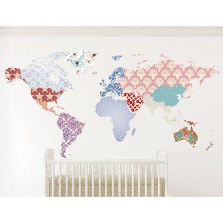 Vinilo decorativo mapamundi retales vinilos decorativos mapamundi mapamundi decorar - Vinilo mapamundi infantil ...