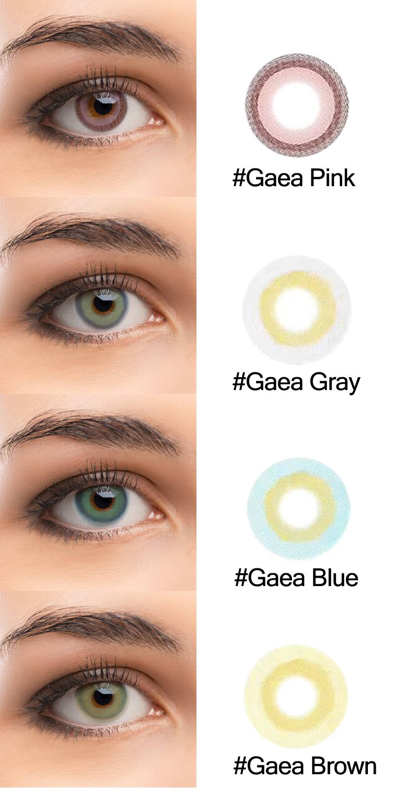 70e2a48511 New Brand Colored Lenses Tolytolly . Gaea series has four 4 colors ...