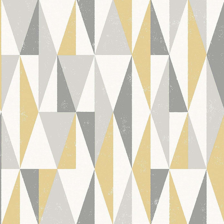 Grey Triangle Wallpaper Dunelm Grey triangle wallpaper