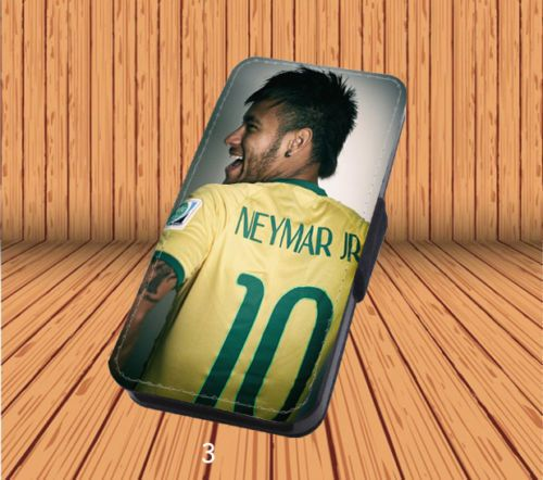Neymar Jr for Leather Flip iPhone 5/5S/SE Hard Case Cover Laser Technology #designyourcasebyme