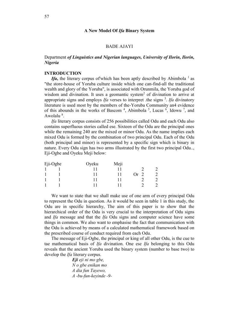 Termpaper on yoruba religion a research paper on child abuse