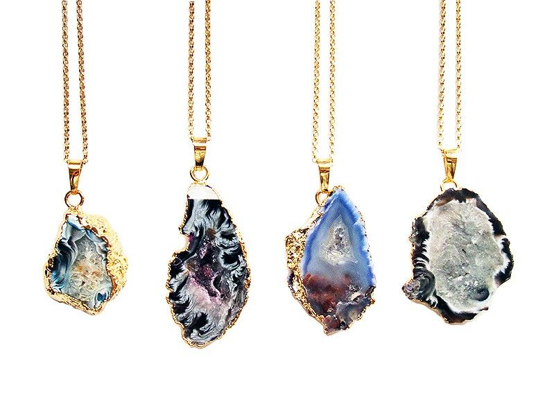 Bella Joy Jewelry   Agate Drusy Pendant Gold Necklaceagate gold necklace ★★Timothy John Designs★★◀http://timothyjohndesigns.com◀FIND US @ FACEBOOK◀TWITTER◀INSTAGRAM! semiprecious jewelry necklace earrings bracelets trendy luxurious handcrafted made in NYC USA~!