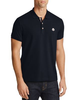 MONCLER Piqué Regular Fit Polo Shirt. #moncler #cloth #shirt