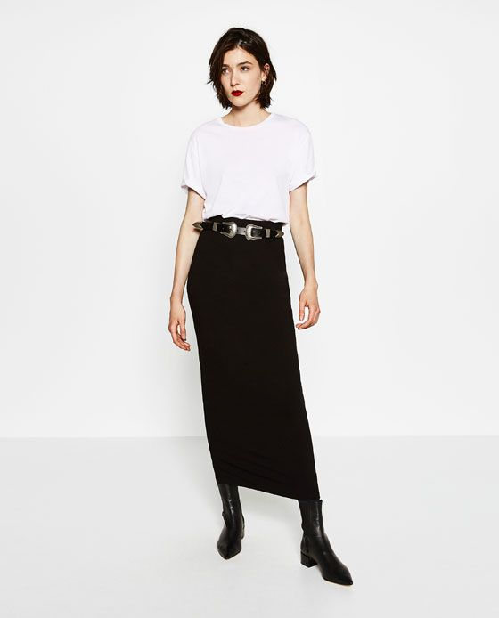 4ddad9d50f Image 1 of LONG STRAIGHT SKIRT from Zara | HIGHSTREET-LOOKS | Long ...
