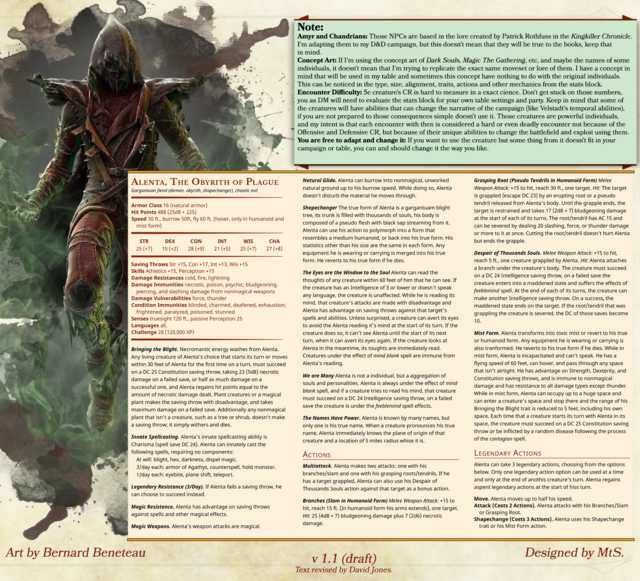 Alenta, The Obyrith of Plague [DnD 5e][Homebrew] | Monsters