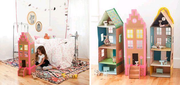 4 casitas de mu ecas con cajas de cart n sapos y princesas el mundo paper cardboard - Casitas de princesas ...