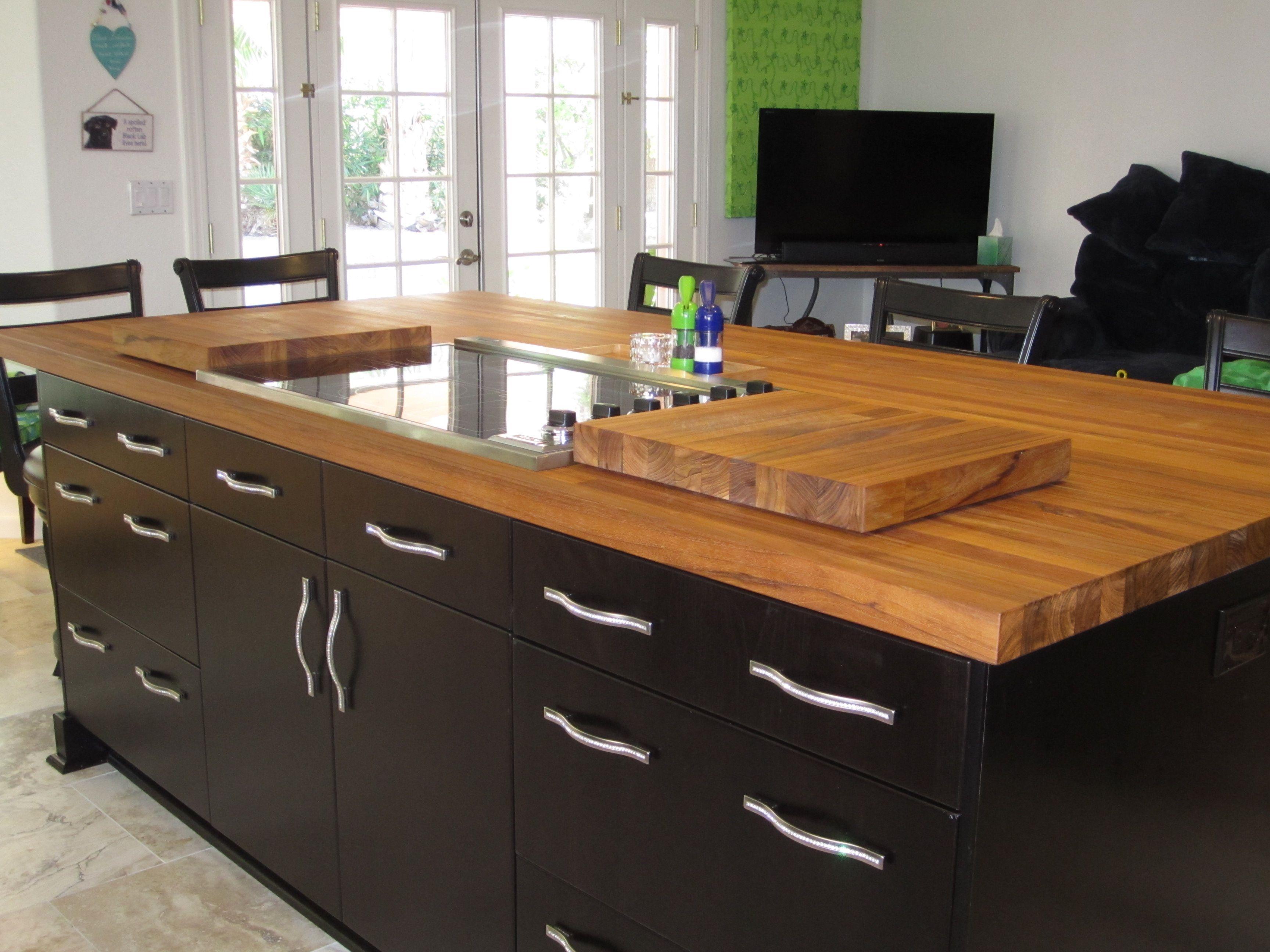 Teak Wood Countertop Photo Gallery By Devos Custom Woodworking Wood Countertops Cheap Countertops Butcher Block Countertops